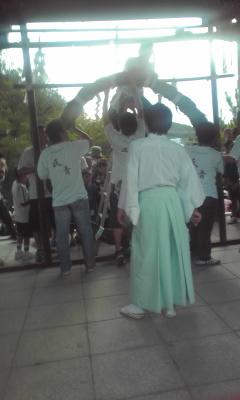 鴻八幡宮夏祭りにて