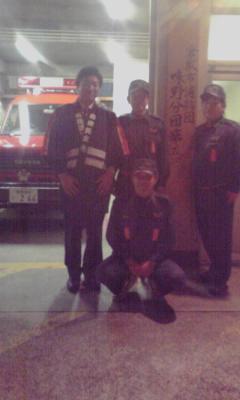 年末の消防団夜警、おつかれさまです!