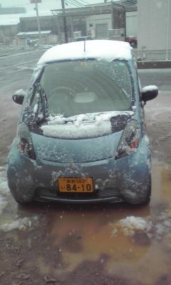 今朝は雪景色