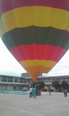 東小学校で熱気球!